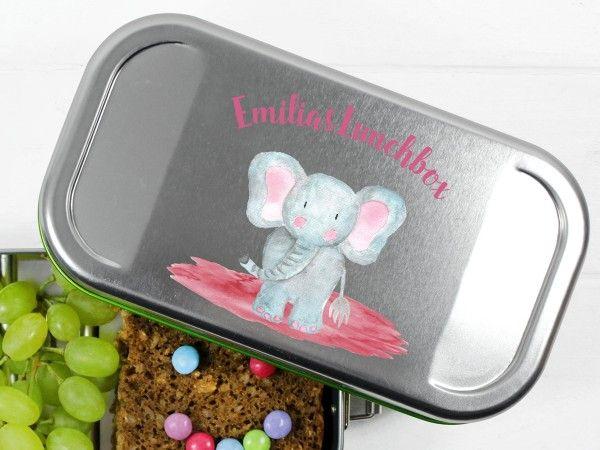 Brotdose Mit Elefant Und Namen Ba Frei Und Ohne Plastik Lunchbox Ideen Elefant Zeichnung Brotdose