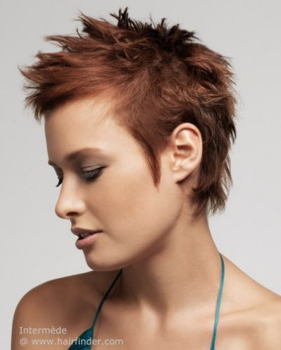 spiky hair styling for a pixie