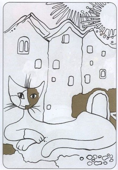 Coloriage Chat Rosina Wachtmeister.Wachtmeister Rosina Rosina Wachtmeister Art Cat Art Painting
