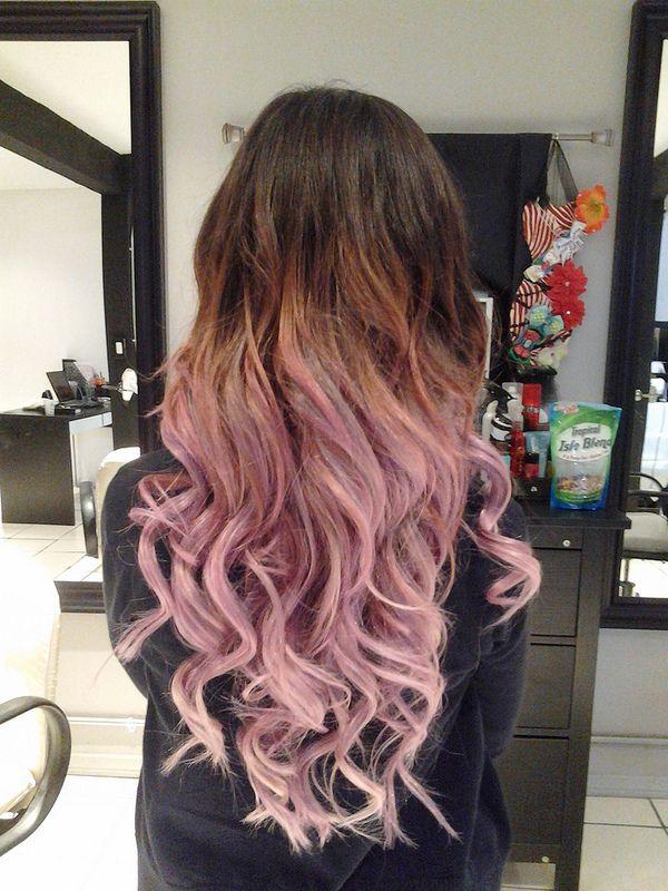 Brown To Light Pink Ombre Hair Necessities Pinterest Pink