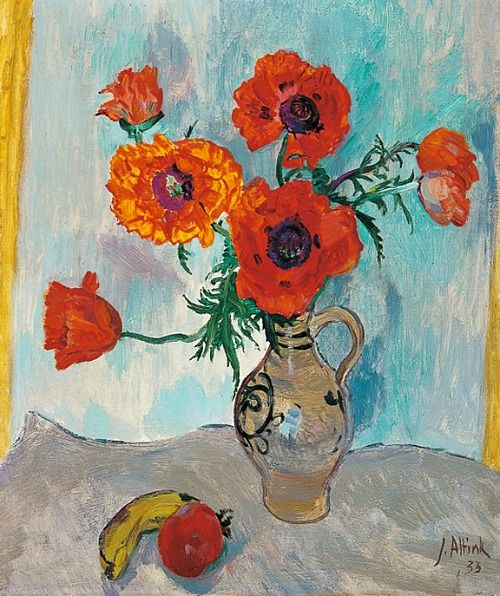 Jan Altink. Flowers in a Vase