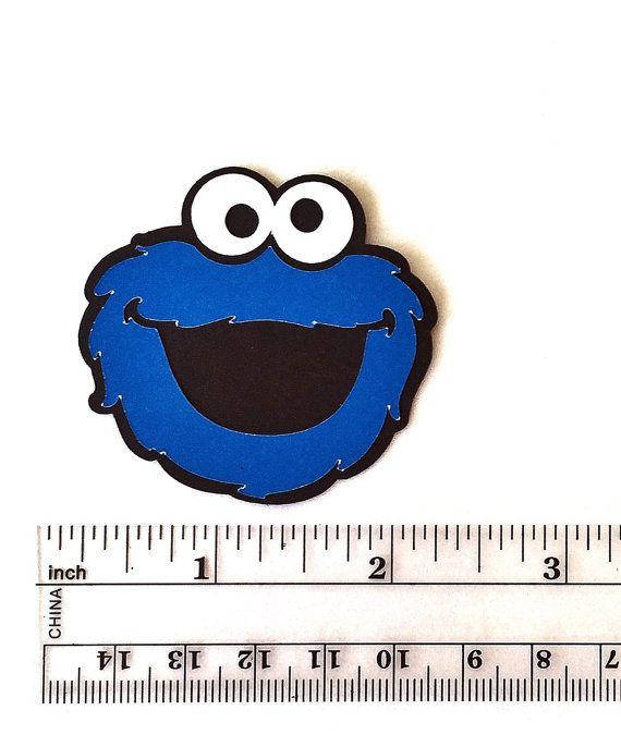 Cookie Monster Die Cuts  2 Cookie Monster Cut Outs
