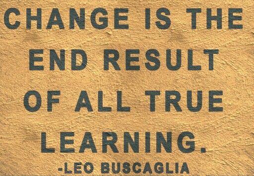 Change is scary yet good.