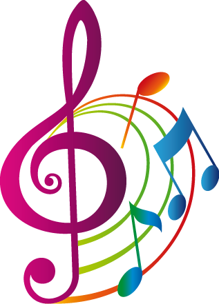 Vinilo Decorativo Clave De Sol De Color 823 Png 317 441 Music Artwork Musical Art Free Clip Art