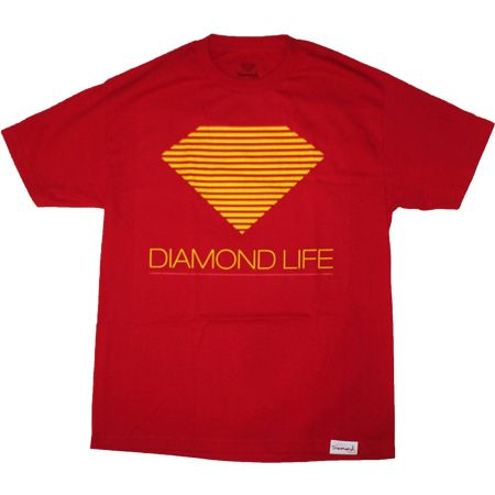 Retro Tee in Red