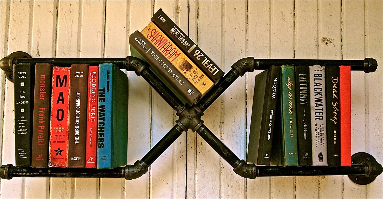 Industrial Pipe Bookshelf Mr. X. $99.00, via Etsy.