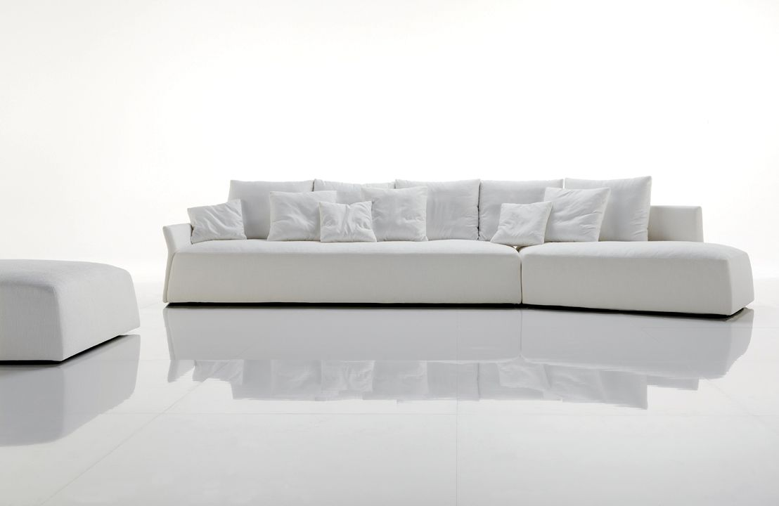 Modern White Sofa Magnificent Modern White Leather Couch ...