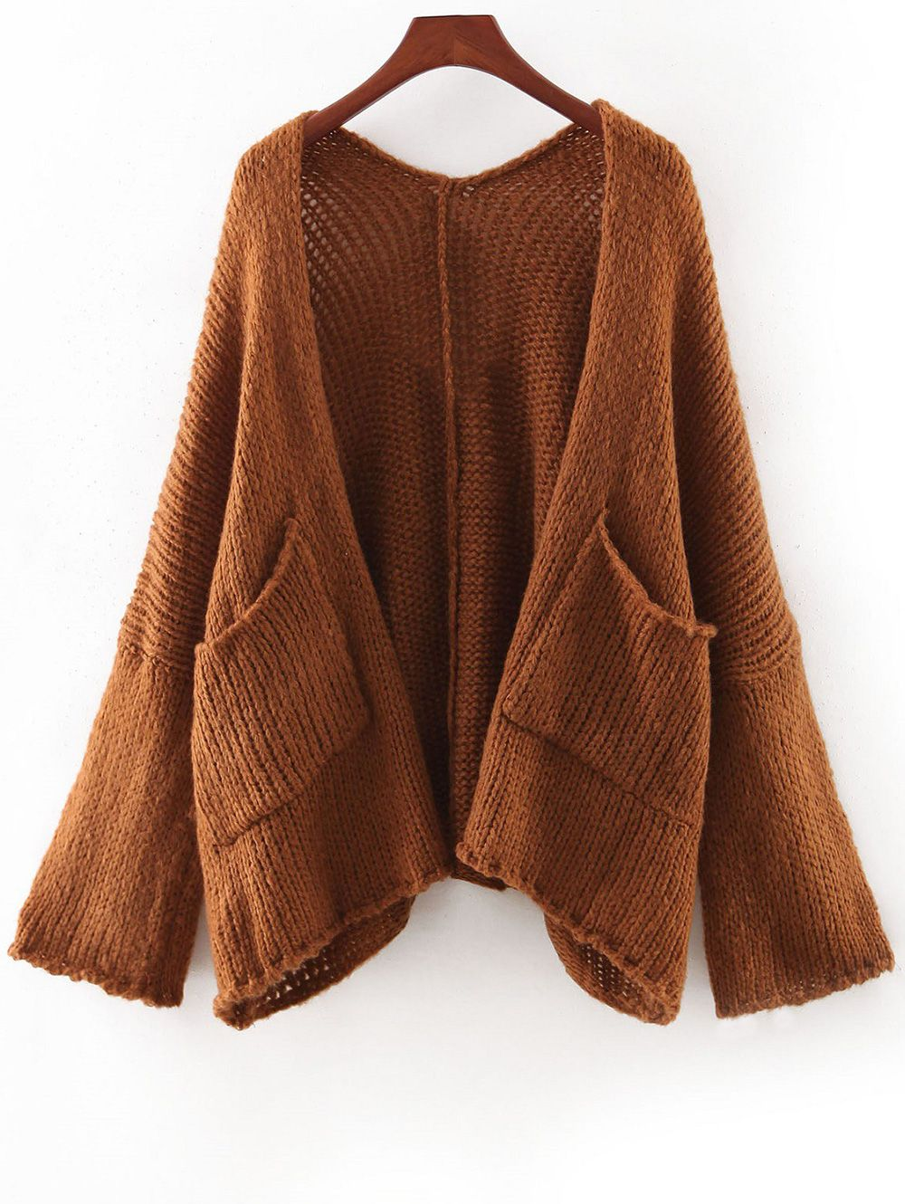 Pockets Long Sleeve Cardigan #CLICK! #clothing, #shoes, #jewelry ...
