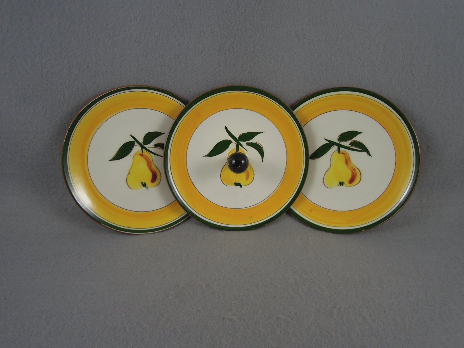 Stangl Pottery Festival Plates with Holder & Petite Solitaire With Accents Engagement Ring In 14k Yellow Gold ...