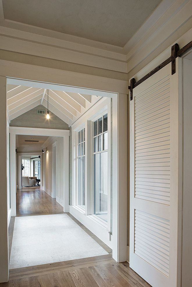 Benjamin Moore Bone White Barn Door And Trim Paint Color Thought Out The House Is