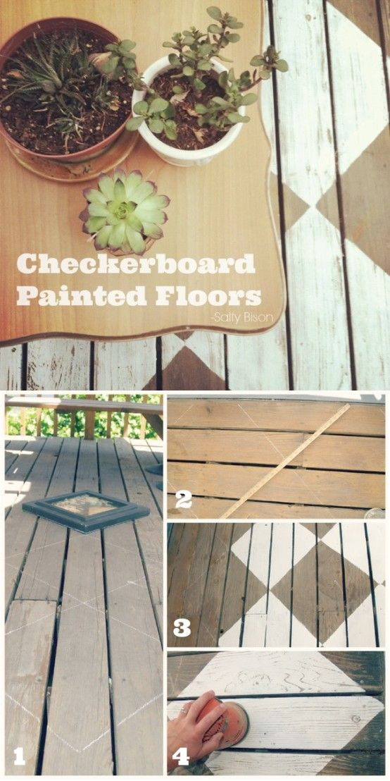 Outdoor Space Makeover Painted Floors & DIY Drop Cloth