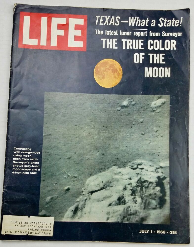 LIFE Magazine July 1 1966 Moon Surveyor Vanessa Redgrave