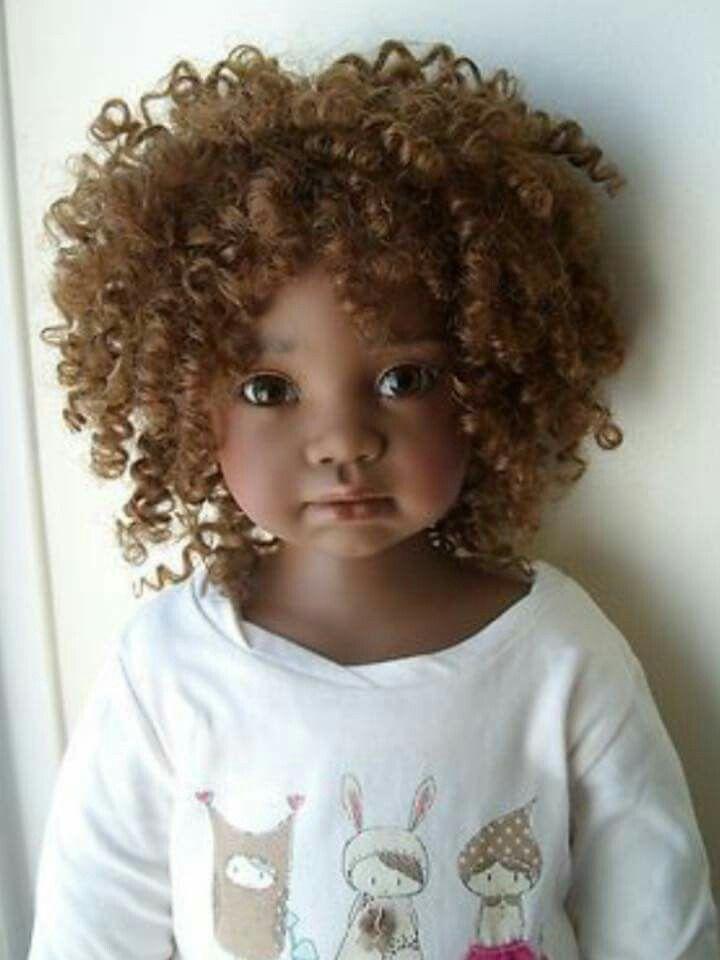 Afro natural hair doll ooak dolls artist doll