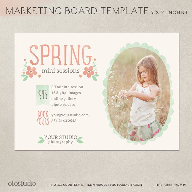Mini Session Photography Marketing Board Spring Von Otostudio