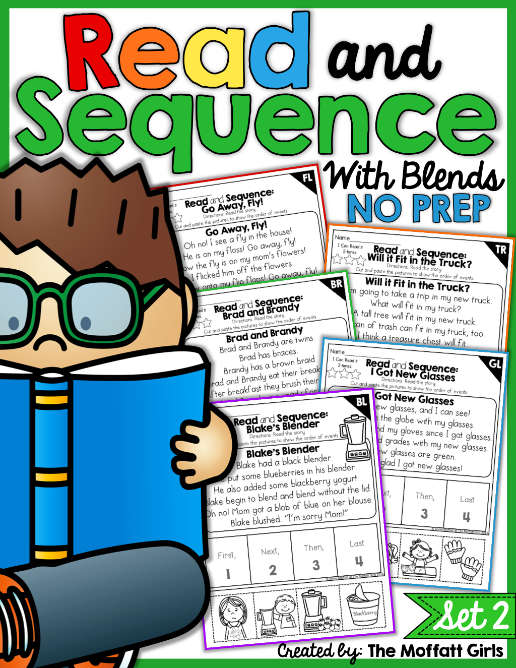 Read And Sequence With Blends No Prep Packet Set 2