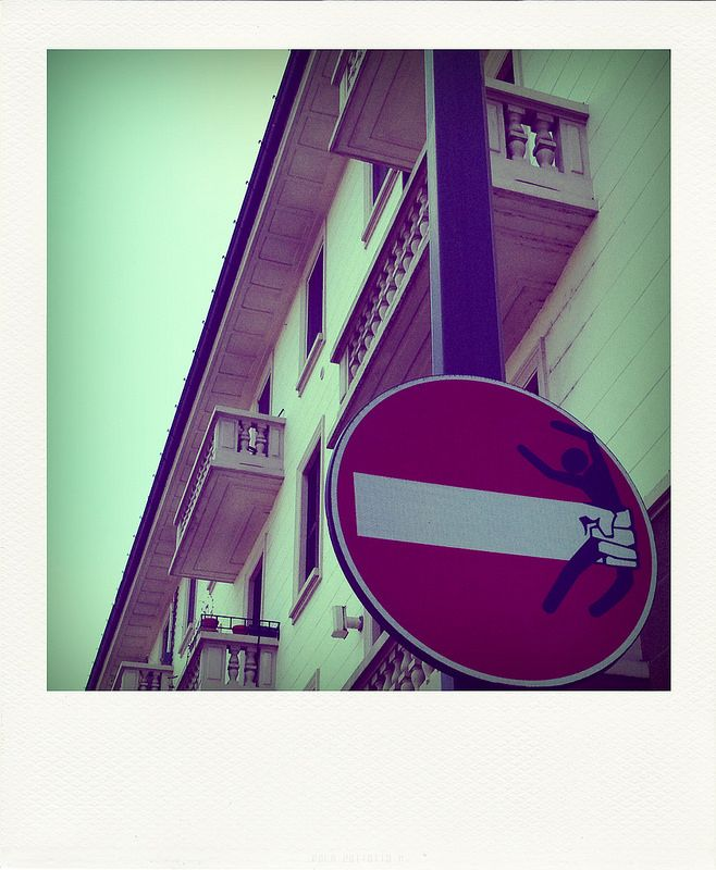 how to decorate the city for a new and original artistic use of road signs #6