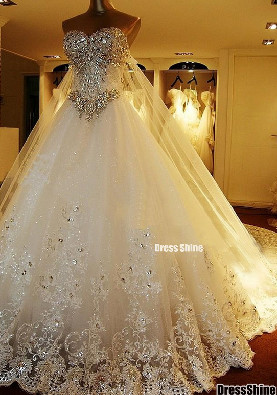 Yz 2017 New Arrival Gorgeous Luxurious Swarovski Crystals Bridal Wedding Dress Sold By Fashion More Products From On