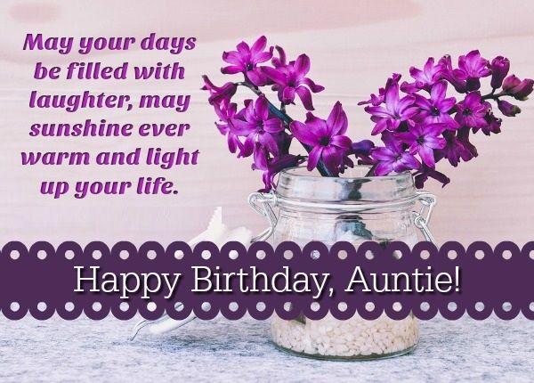 Happy Birthday Auntie Lovely Birthday Wishes For Aunt Happy