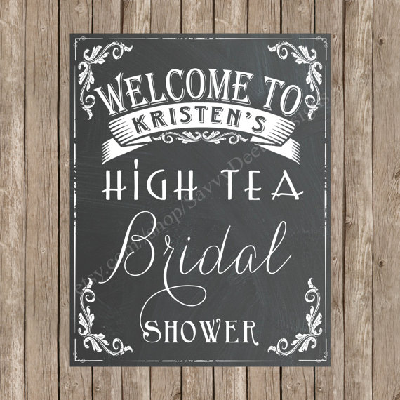 custom bridal shower welcome chalkboard printable sign chalkboard