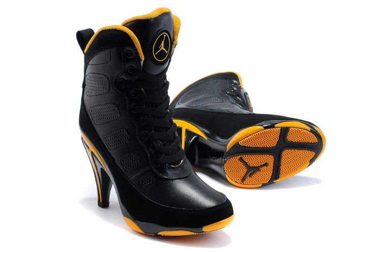 Air Jordan High Heels - Black Yellow  1c02ff9fa