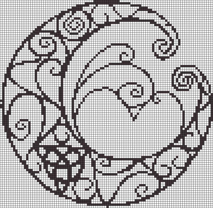 Gallery.ru / Фото #125 - Узоры (схемы) - Olgakam | filet crochet ...