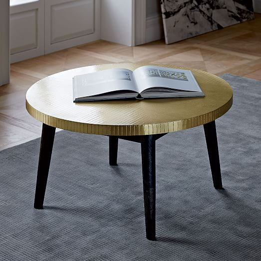Hammered Brass Coffee Table | West Elm