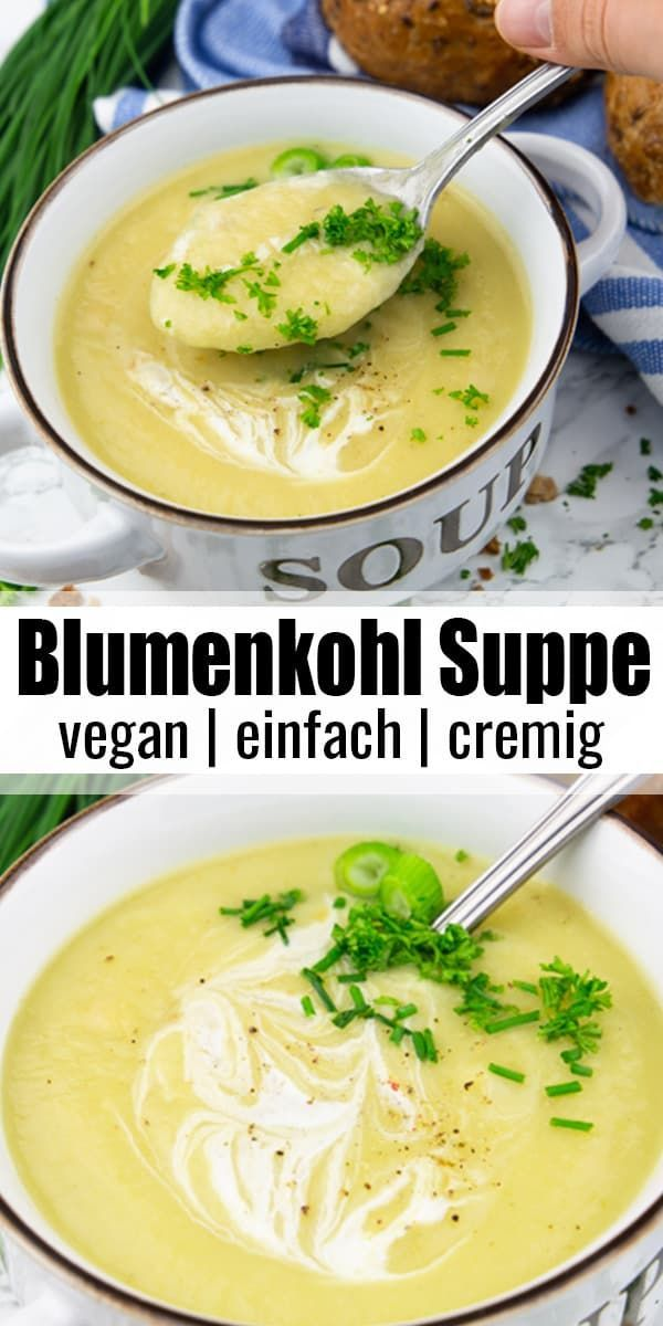 Photo of Blumenkohl-Creme-Suppe
