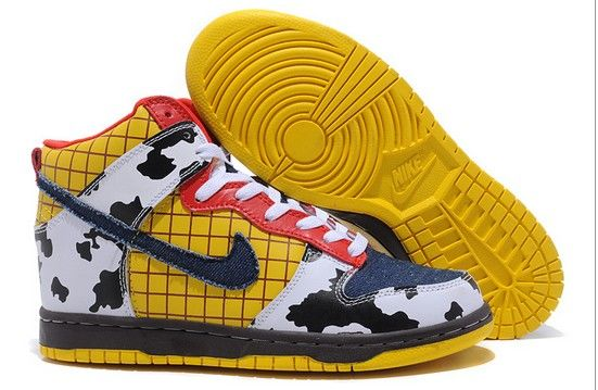 Toy Story Nike Dunk Woody Shoes : Glow In Dark,Comic Character Sneakers,  Animal