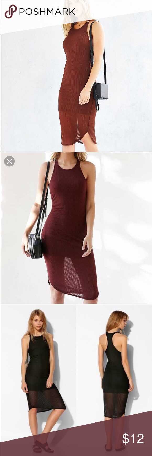 Urban Outfitters Ribbed Midi Bodycon Dress Ribbed Bodycon Midi Dress Burgundy Bodycon Dress Bodycon Dress [ 1740 x 580 Pixel ]
