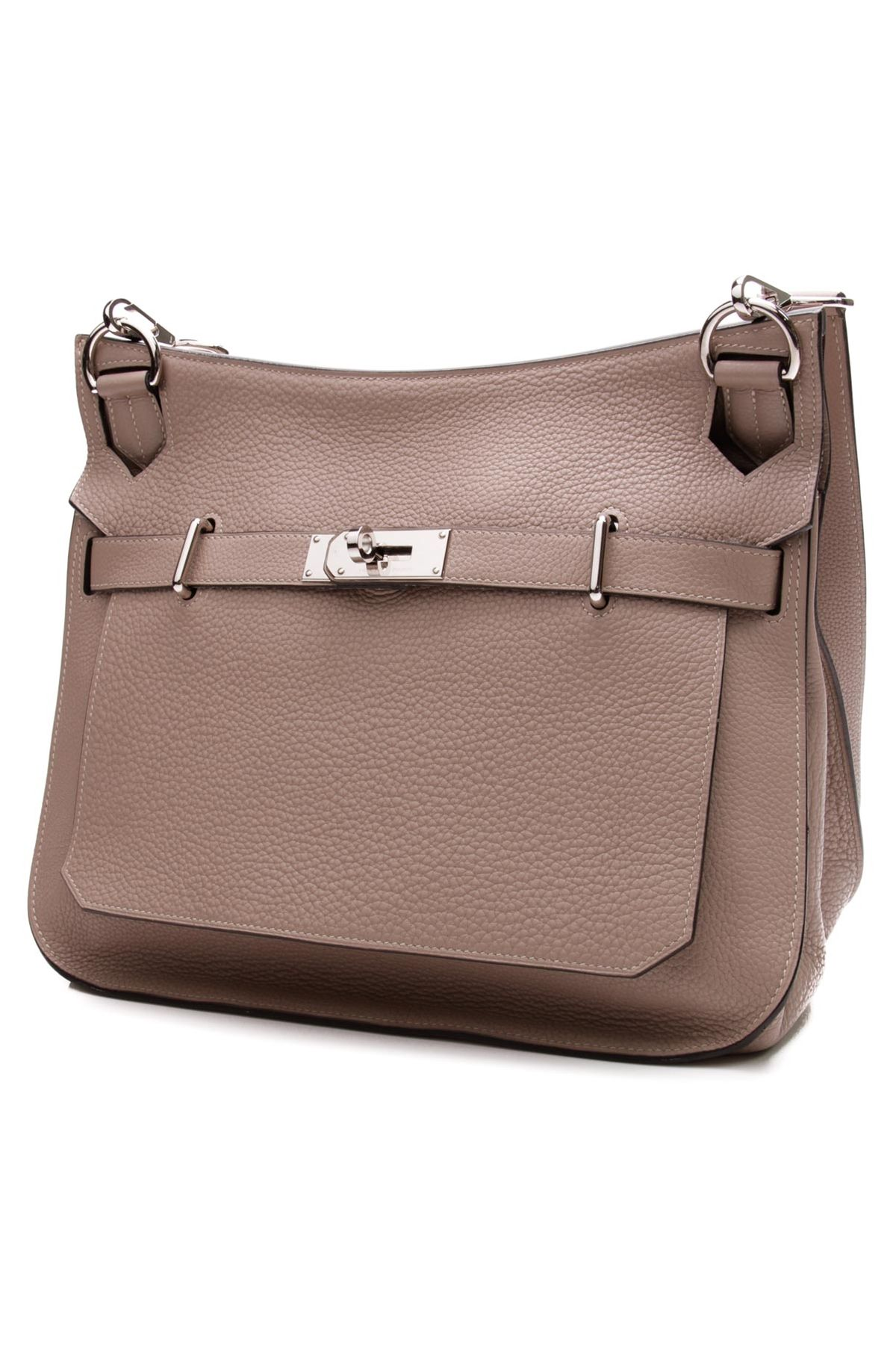 9dcc28039708 This taupe Hermes Jypsiere is the epitome of everyday chic Hermes Bags