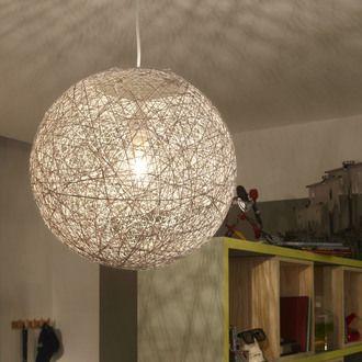 suspension boule en rotin tress ajour kirou salons. Black Bedroom Furniture Sets. Home Design Ideas