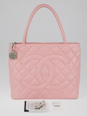 The Chanel Pink Caviar Leather Medallion Tote Bag Is Part Of The Chanel Classic Collection And Is Coveted By Celebrities Used Chanel Bags Pink Chanel Bag Sale
