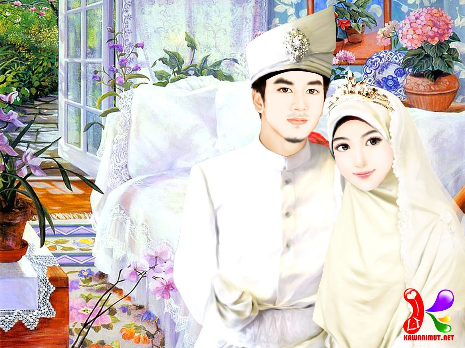 Gambar Kartun Muslimah Menikah Kartun, Gambar, Pernikahan