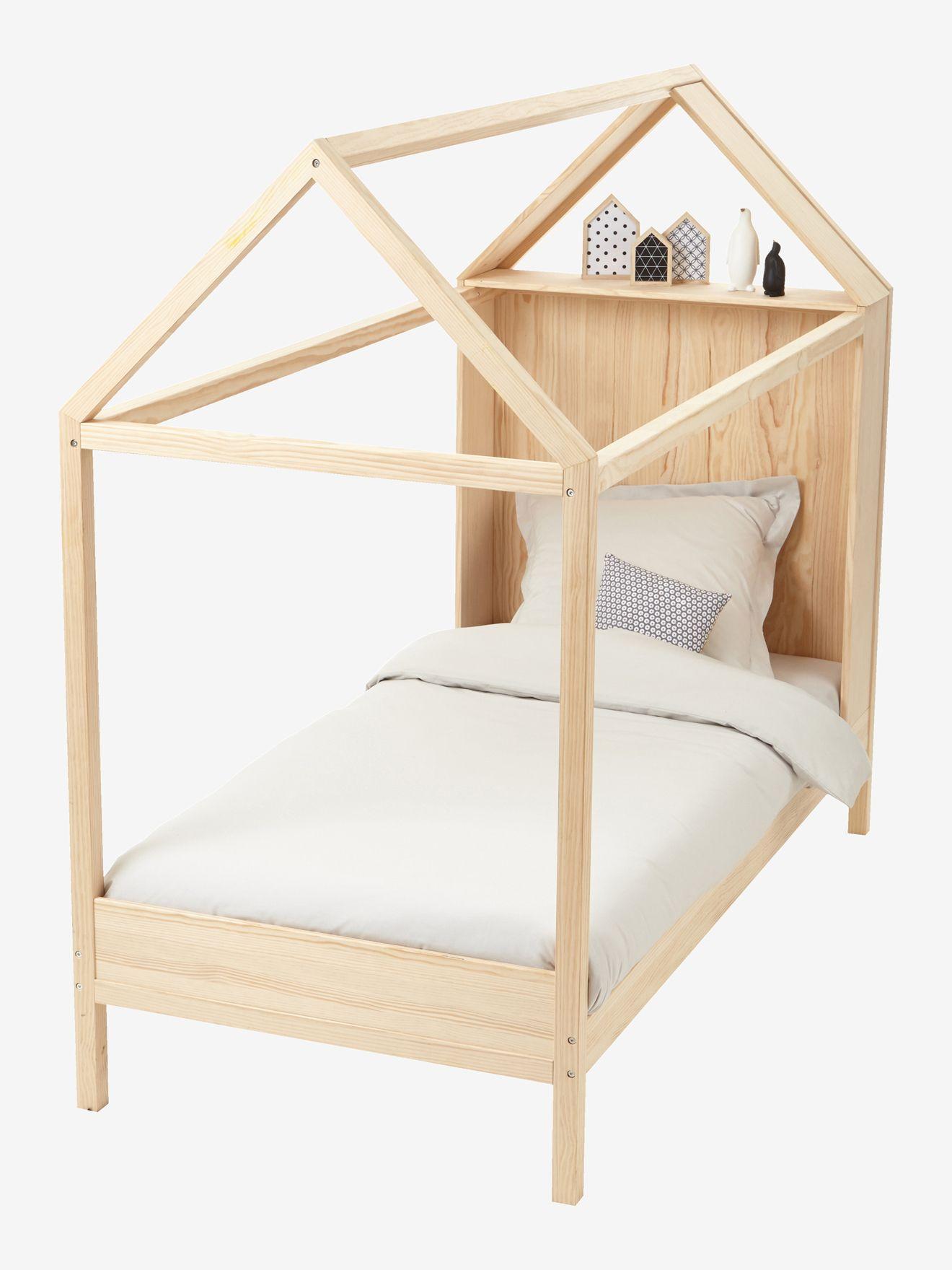 Lit cabane en bois - bois | Chambre Enfant / Kid Bedroom | Lit ...