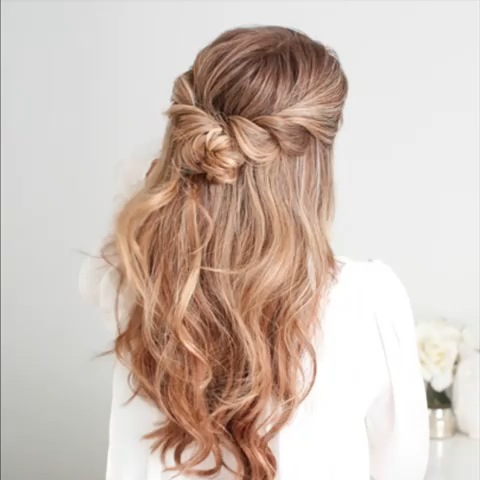 Half Up Twist Braid Knot