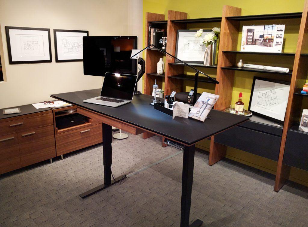 Sequel Lift Desk By Bdi Standingdesk Sitstanddesk Home Office