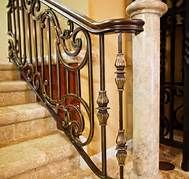 wrought iron copper railings interior - Bing Images