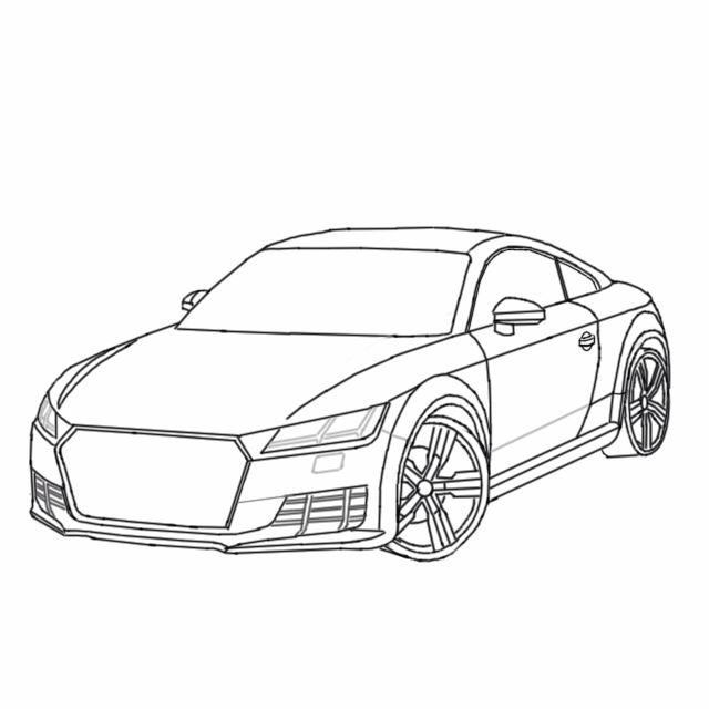 Sketch Stages Of The Audi Tt My Autodesk Sketchbook Designs