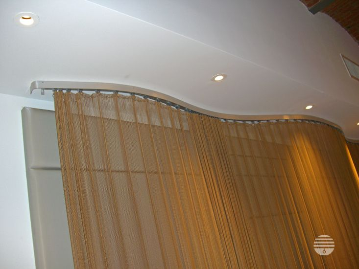 Curved Cascade Coil Curtain Track 138 Spring St Nyc Curtains Curtain Track Drapery Designs