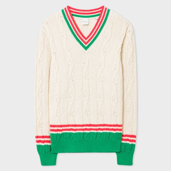 Discount Fashionable Stripe-trimmed Wool Sweater Paul Smith Discount Shop Latest Cheap Price Free Shipping Pay With Visa j0ZzDGf
