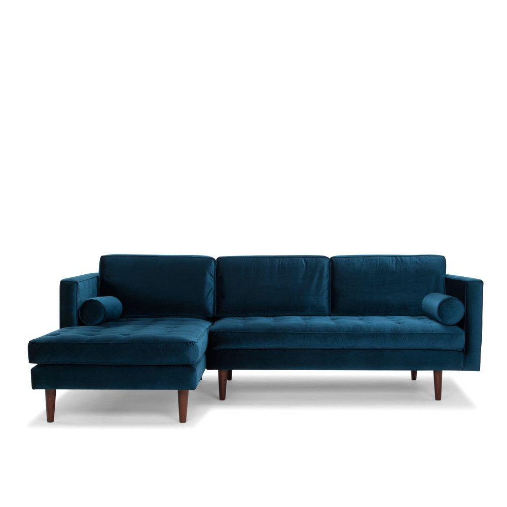 Bussi Corner Sofa 3 Seater In Petrol Blue Me And My Trend Sofa Corner Sofa Velvet Corner Sofa
