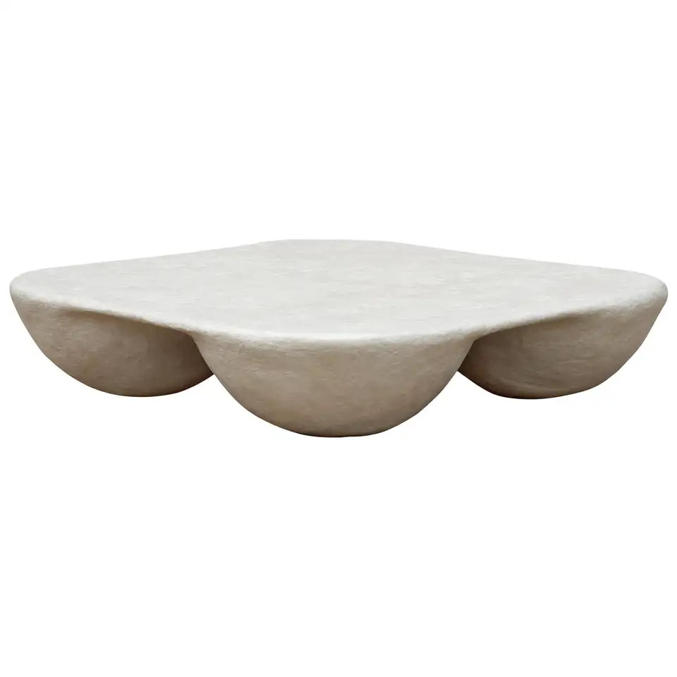 48 Inch Rounded Square Quad Coffee Table In Natural White Paper Pulp Coffee Table Square Coffee Table Round Coffee Table Modern [ 960 x 960 Pixel ]