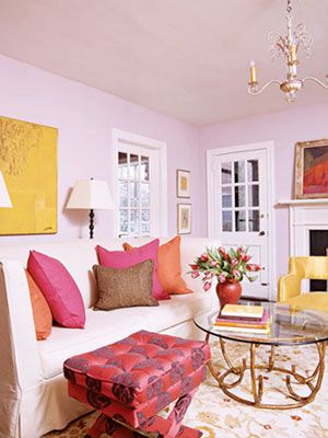 Colors That Take Years Off | Living rooms, Pink room and Pink houses