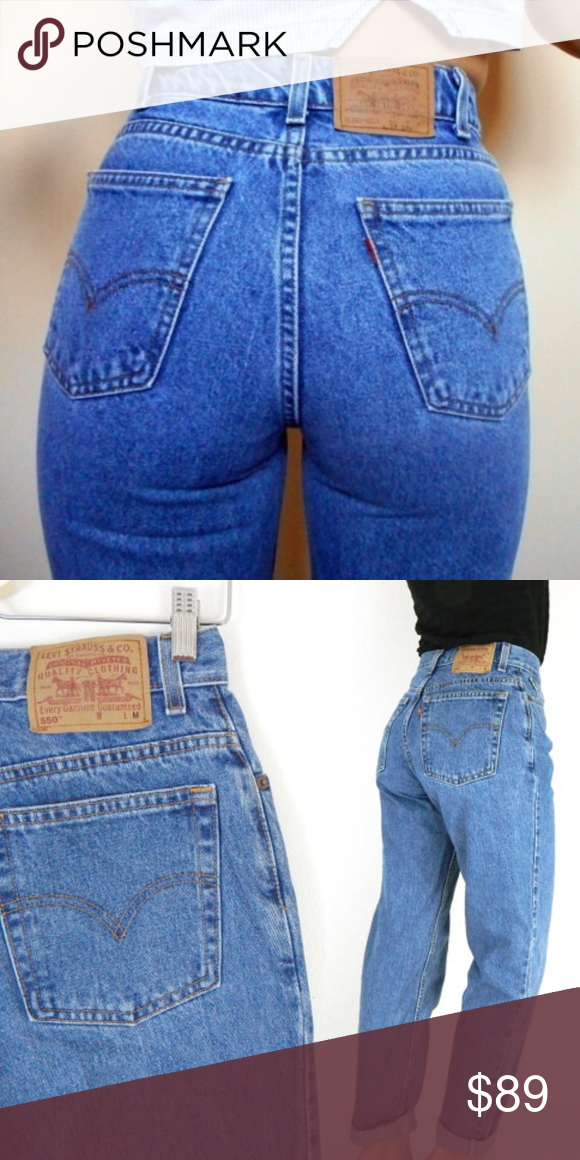 Vintage Levis 501 High Waist Mom Jeans With Images Mom Jeans Levi Clothes Design