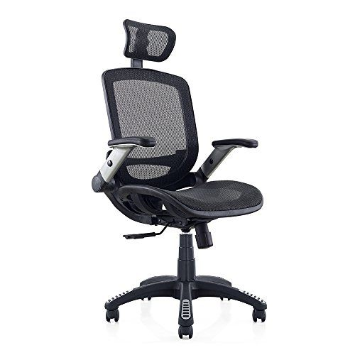 executive revolving chair specifications fisher price table and chairs gabrylly office mesh desk high back ergonomic gaming swivel computer with headrest lumbar support black