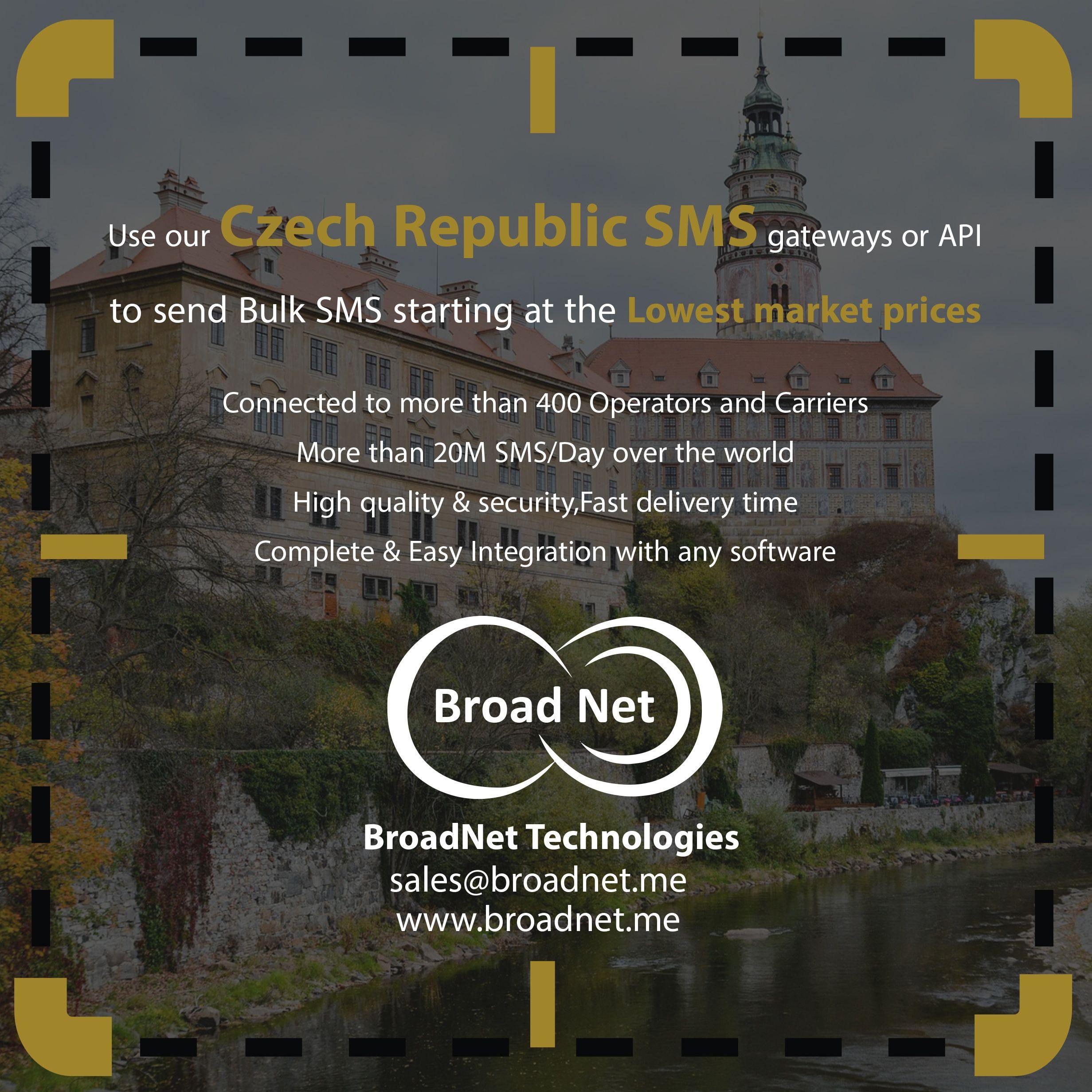 Use our Czech Republic SMS gateways or #API to send Bulk SMS