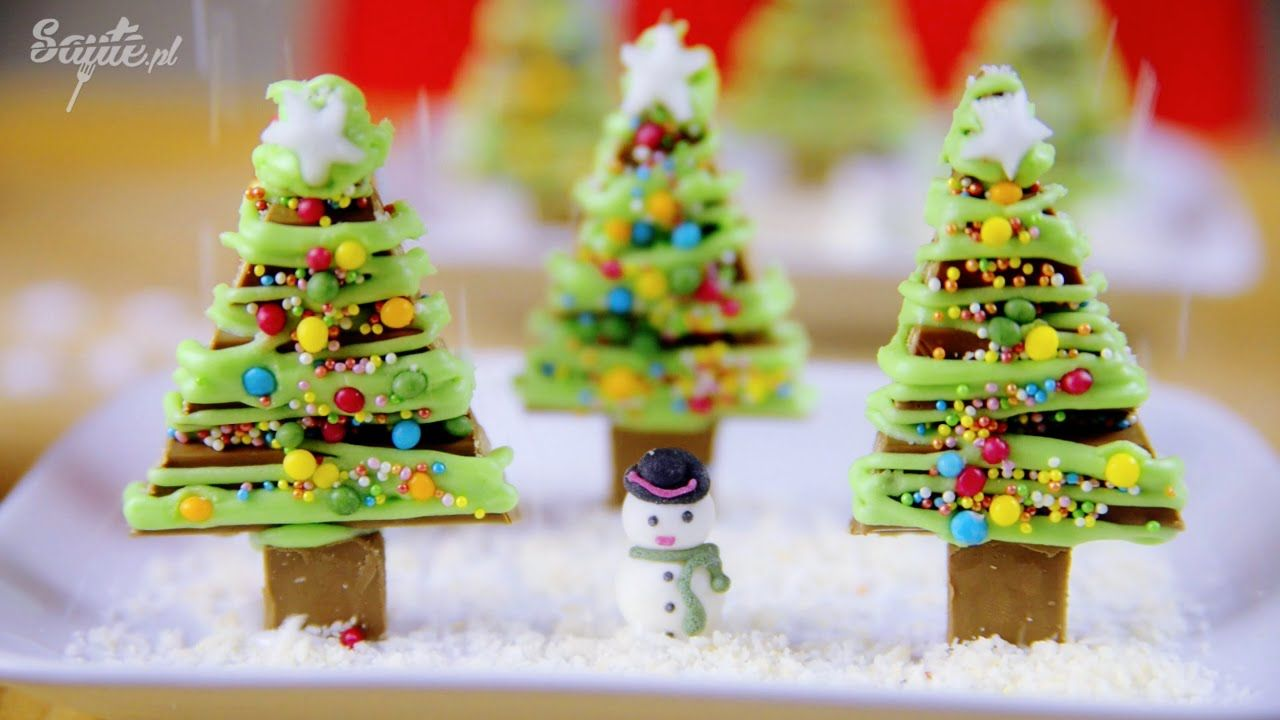 Sweet Christmas tree. I made it from Kit Kat wafers. Check recipe on ...