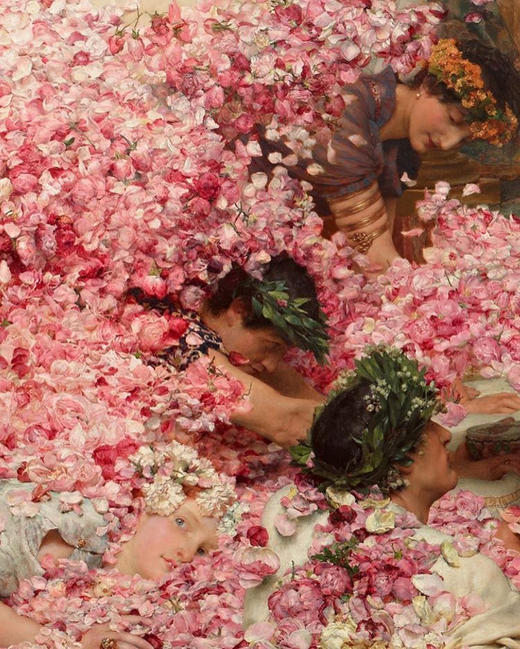 """""""The Roses of Heliogabalus"""" (detail) (1888) by Sir Lawrence Alma-Tadema"""