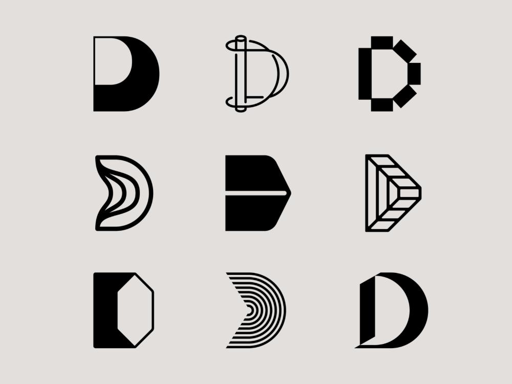 Letter D Exploration Lettering Letter Logo Design D Letter Design