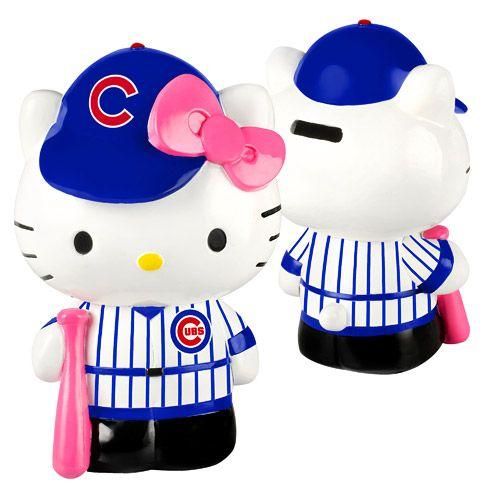12b4f48ee Chicago Cubs Hello Kitty Resin Bank - MLB.com Shop | Hello Kitty MLB ...